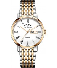 Rotary GB90155-01 Mens Les Originales Windsor Two Tone Rose Gold Plated Watch