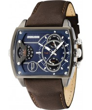 Police 14698JSU-03 Mens Scorpion Brown Leather Strap Watch