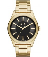 Armani Exchange AX2328 Mens Nico Gold Steel Bracelet Watch