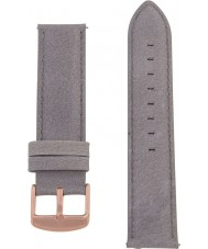Charles Conrad CDA1006-18-L28 Grey Leather Strap