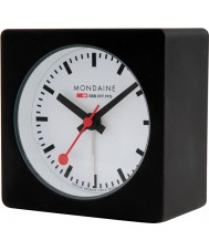 Mondaine A996-ALIG-20SBB Black Alarm Cube Clock