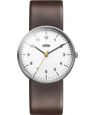 Braun BN0021WHBRG Mens White Brown Watch