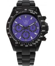 LTD Watch LTD-030206 Purple Black Chronograph Watch