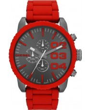Diesel DZ4289 Mens Double Down Black Red Chronograph Watch