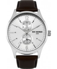 Ben Sherman WB047BR Mens Spitalfields Vinyl Brown Leather Strap Watch