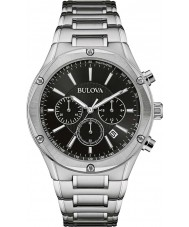 Bulova 96B247 Mens Silver Tone Chronograph Watch