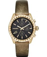 Diesel DZ5489 Ladies Kray Kray Black Gold Plated Chronograph Watch