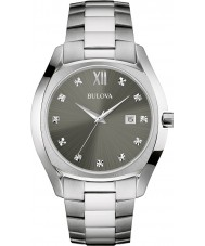 Bulova 96D122 Mens Dress Silver Steel Bracelet Watch