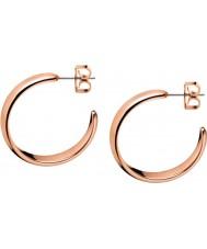 Calvin Klein KJ2KPE100100 Ladies Embrace Rose Gold Hoop Earrings