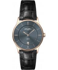 Rotary GS08204-20 Mens Ultra Slim Grey Black Watch