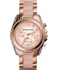 Michael Kors MK5943 Ladies Blair Rose Gold Plated Chronograph Watch