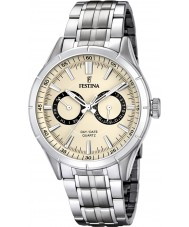 Festina F16780-2 Mens Silver Steel Bracelet Multifunction Watch