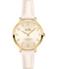 Coach 14502564 Ladies Ultra Slim White Leather Strap Watch