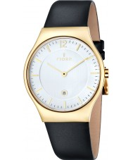 Fjord FJ-3005-04 Mens Olle 2 Hand Gold Black Slim Watch