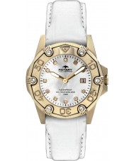 Rotary ALS00003-W-07 Ladies Aquaspeed Gold White Leather Strap Watch