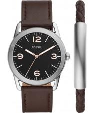Fossil BQ2465SET Mens Ledger Watch and Bracelet Gift Set