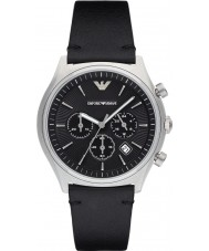 Emporio Armani AR1975 Mens Dress Black Leather Strap Watch