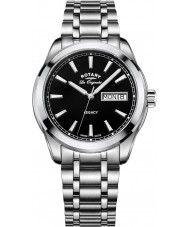 Rotary GB90173-04 Mens Timepieces Legacy Silver Steel Bracelet Watch