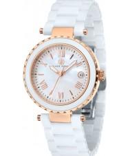 Klaus Kobec KK-10005-03 Ladies Venus Rose Gold and White Ceramic Watch