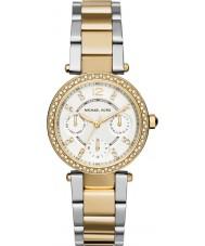 Michael Kors MK6055 Ladies Mini Parker Two Tone Steel Bracelet Watch