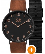 Ice-Watch CHL.A.LEY.41.N.15 Mens Ice-City Watch with Black Nylon and Brown Leather Straps