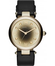 Marc Jacobs MJ1409 Ladies Dotty Black Leather Strap Watch