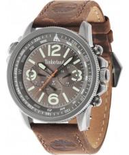 Timberland 13910JSU-61 Mens Campton Dark Brown Leather Strap Watch