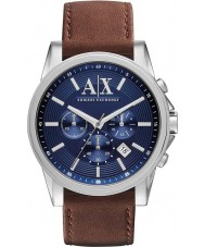 Armani Exchange AX2501 Mens Blue Brown Chronograph Dress Watch