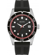 Bulova 98B260 Mens Sport Black Silicone Strap Watch