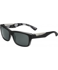 Bolle Jude Matt Black Argyle White Polarized TNS Sunglasses