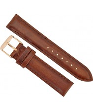 Daniel Wellington DW00200075 Ladies Classy St Mawes 21mm Rose Gold Brown Leather Spare Strap