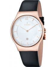 Fjord FJ-3005-05 Mens Olle 2 Hand Rose Gold Black Slim Watch