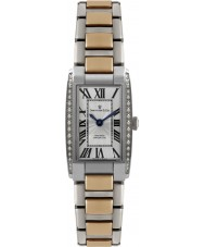 Dreyfuss and Co DLB00055-D-01 Ladies 1974 Diamond Set Silver Rose Gold Watch