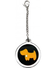 I Puppies PF-002-A Dog Steel and Orange Tag For Collar Medallion