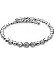 Emozioni DC155 Ladies Ula Silver Plated Wrap Bangle