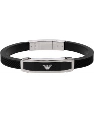 Emporio Armani EGS1543040 Mens Inlay Black Bracelet