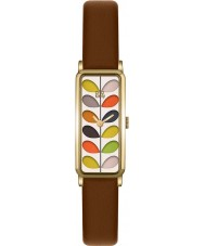 Orla Kiely OK2104 Ladies Stem Print Tan Leather Strap Watch