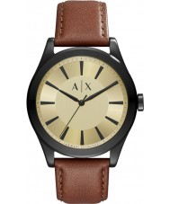 Armani Exchange AX2329 Mens Nico Dark Brown Leather Strap Watch