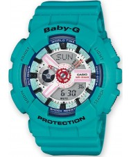 Casio BA-110SN-3AER Ladies Baby-G World Time Green Chronograph Watch