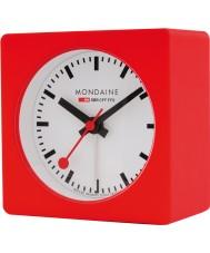 Mondaine A996-ALIG-30SBB Red Alarm Cube Clock
