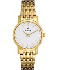 Bulova 97L116 Ladies Gold Plated Dress Watch