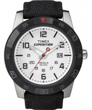 Timex T49863 Mens White Black Expedition Rugged Field Watch