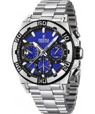 Festina F16658-6 Mens Chrono Bike 2013 Dark Blue and Silver Watch
