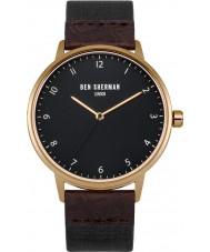 Ben Sherman WB049BRG Mens Portobello Heritage Dark Brown and Black Strap Watch
