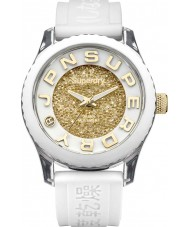 Superdry SYL174WG Ladies Tokyo White Silicone Strap Watch with Swarovski Dial