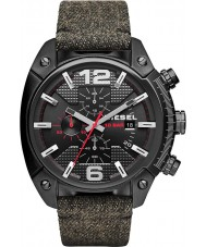Diesel DZ4373 Mens Overflow Black IP Chronograph Fabric Strap Watch