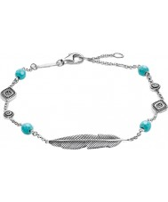 Thomas Sabo A1477-646-17-L19-5v Ladies Silver Dreamcatcher Ethno Feather Bracelet
