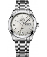 Rotary GB90173-06 Mens Timepieces Legacy Silver Steel Bracelet Watch