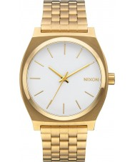 Nixon A045-508 Time Teller Gold Steel Bracelet Watch
