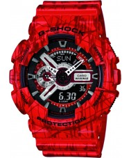 Casio GA-110SL-4AER Mens G-Shock World Time Red Combi Watch